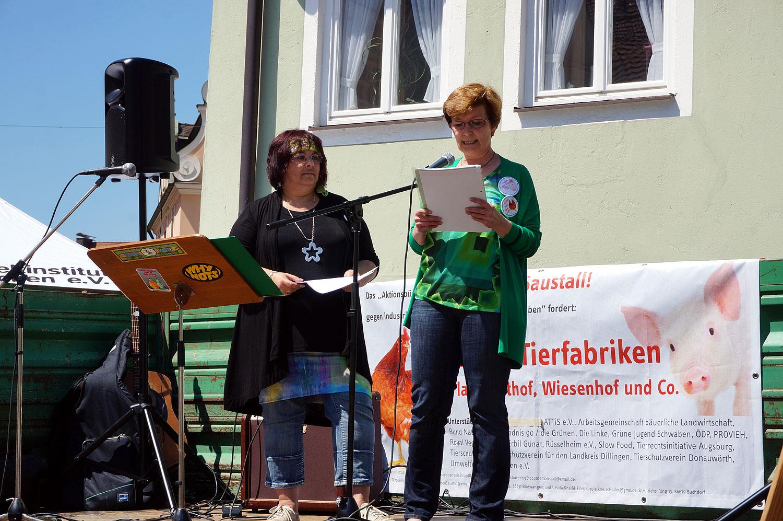 """Stoppt den Saustall"" Demo in Donauwörth 2015"