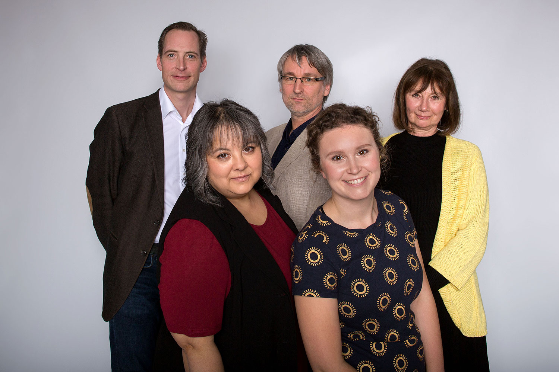 Kandidat*innen 2018 Kreisverband Dillingen - Bene Rapp, Pit Monz, Petra Hien, Seraphia Gruber