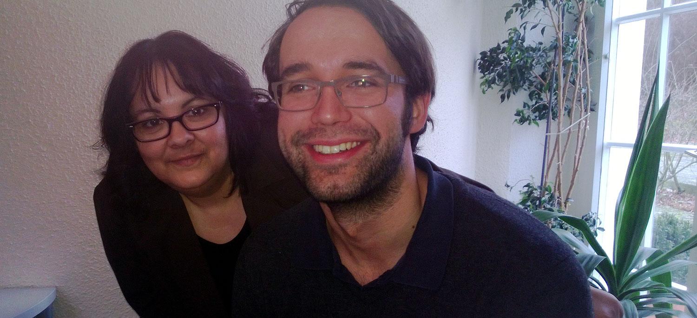 mit Maxi Deisenhofer, lange Jahre schwäbischer Bezirkssprecher, jetzt im Landtag