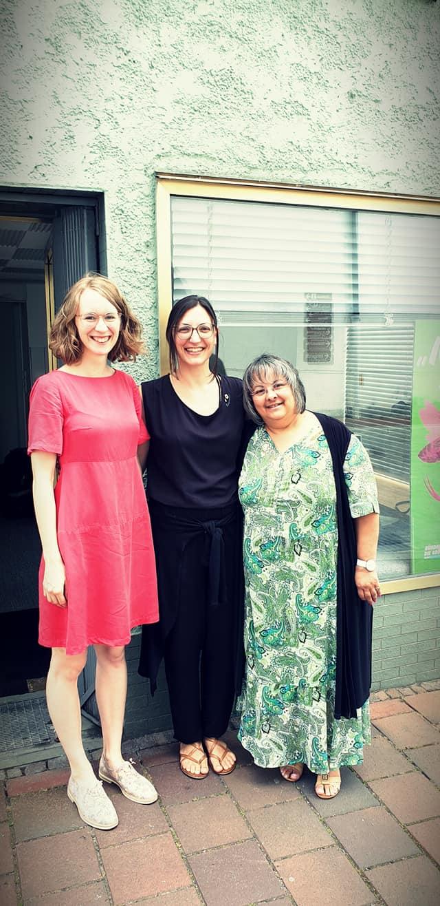 zur Eröffnung unseres gemeinsamen grünen Büros in Dillingen mit Eva und Melli