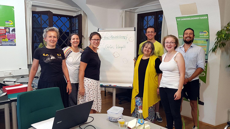 workshop zum Haustürwahlkampf mit Sebastian