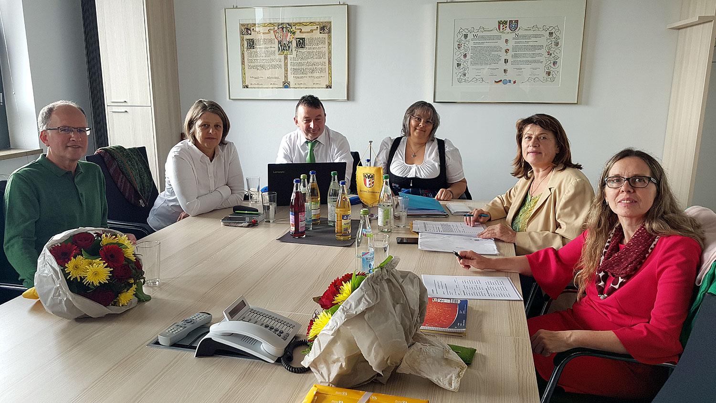 erste Fraktionssitzung im Raum Wörnitz
