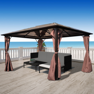 tonnelle aluminium 4x3 mon jardin discount. Black Bedroom Furniture Sets. Home Design Ideas