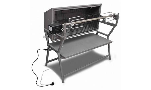 Barbecue rotissoire grande taille avec broche tournante - Grand barbecue electrique ...