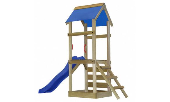 aire de jeux bois avec toboggan bac sable et jeux d 39 escalade mon jardin discount. Black Bedroom Furniture Sets. Home Design Ideas