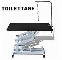 Table de toilettage la moins chère