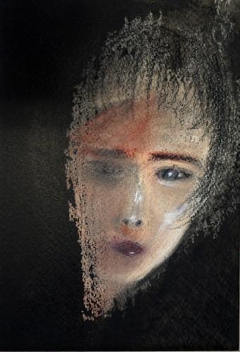solitude  SM  福井サムホール展 出品 パステル+墨