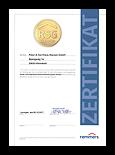 Grafik: Zertifikat RSG 2019-03 - Remmers System-Garantie (RSG)
