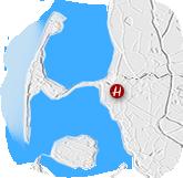 Grafik: Anfahrt zum BAUGESCHÄFT HANSEN, Klanxbüll - Ihr Bauunternehmen in Nordfriesland & auf der Insel Sylt