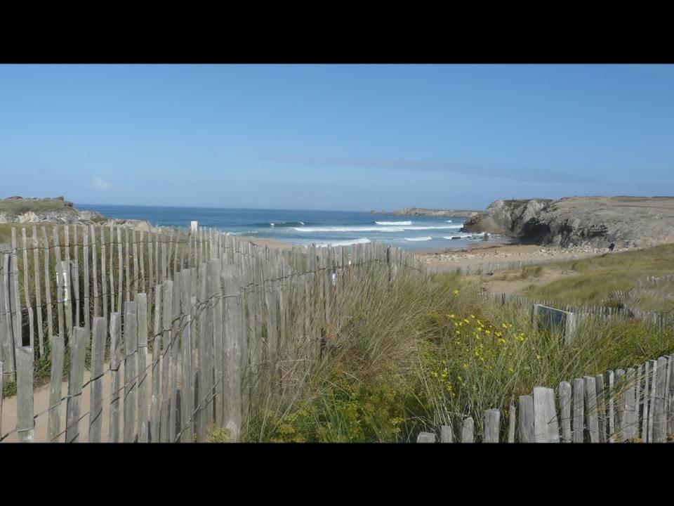 Plage secrète de la côte sauvage ; Morbihan