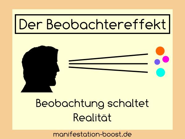 Der Beobachtereffekt - Beobachtung schaltet Realität
