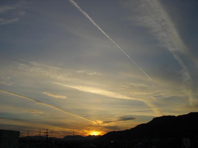 屋上からの夕焼け  2013-12/16