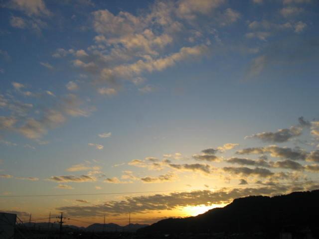 屋上からの夕焼け  2014-2/11