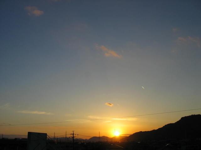 屋上からの夕焼け  2013-12/25