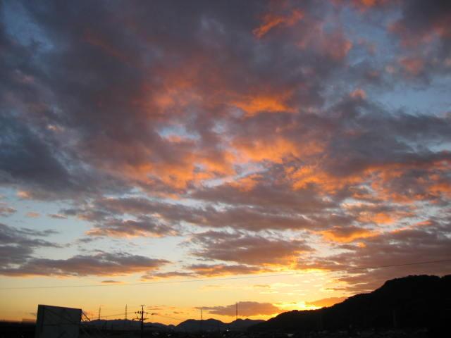 屋上からの夕焼けー1  2013-11/22