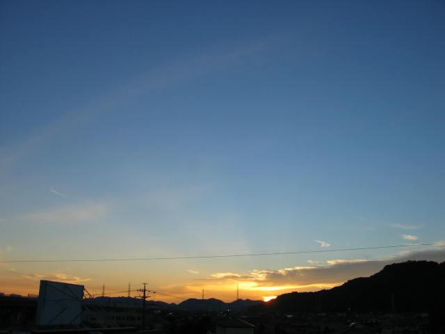 屋上からの夕焼けー1  2013-11/28