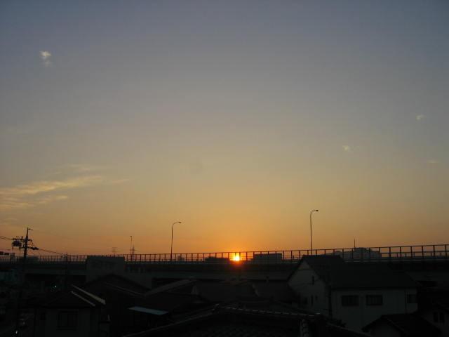 2013-10月31~屋上からの景色~日の出
