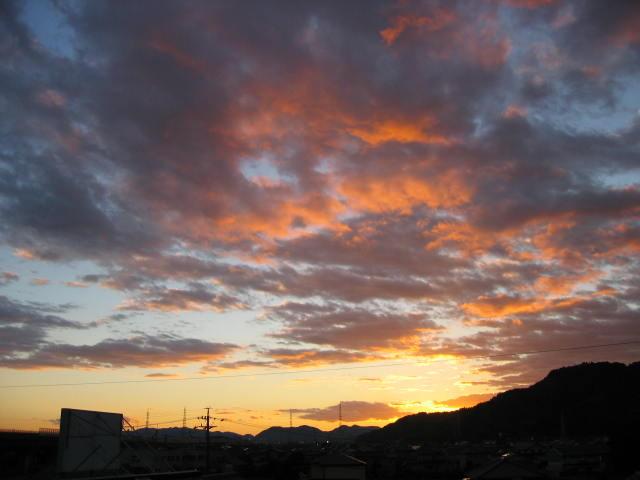 屋上かの夕焼けー1  2013-11/22