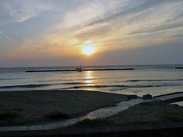伊豆の土肥からの夕日