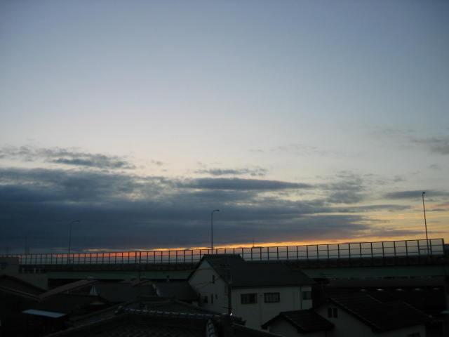 2013-10月30~屋上からの景色(朝焼け)