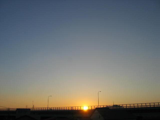 2014-1/31の朝焼けです。