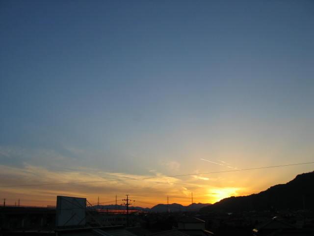 屋上からの夕焼けー1  2013-11/24
