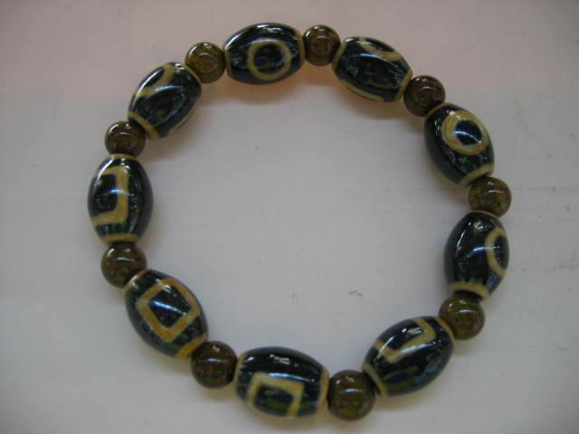 天珠+龍紋石(天地店)天のパワーを集める天珠のブレスレッド¥6800