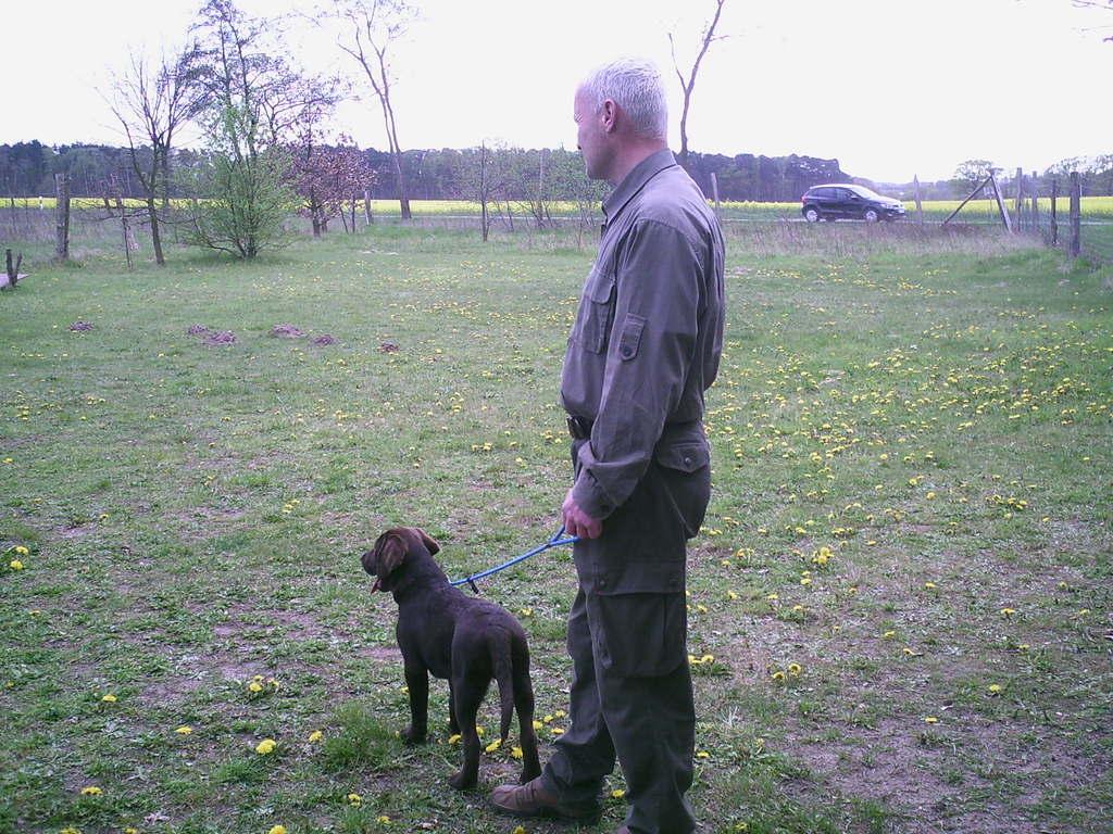 Gordon und Aiko bei der Hundeschule