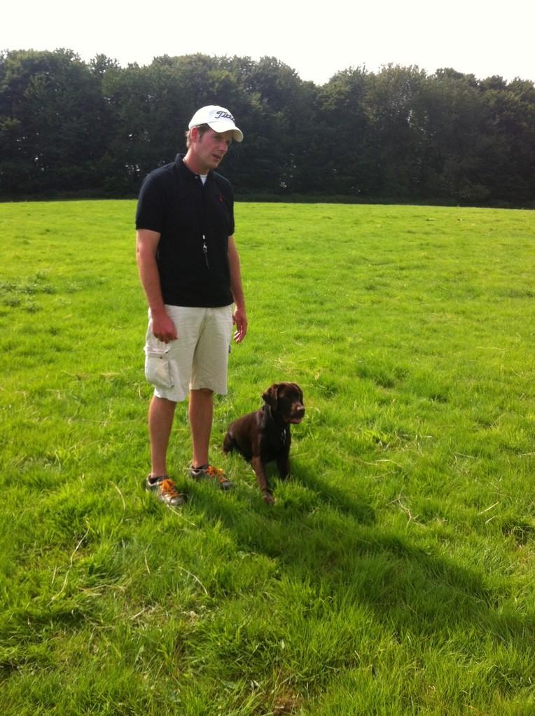 Jan und Balu in der Hundeschule