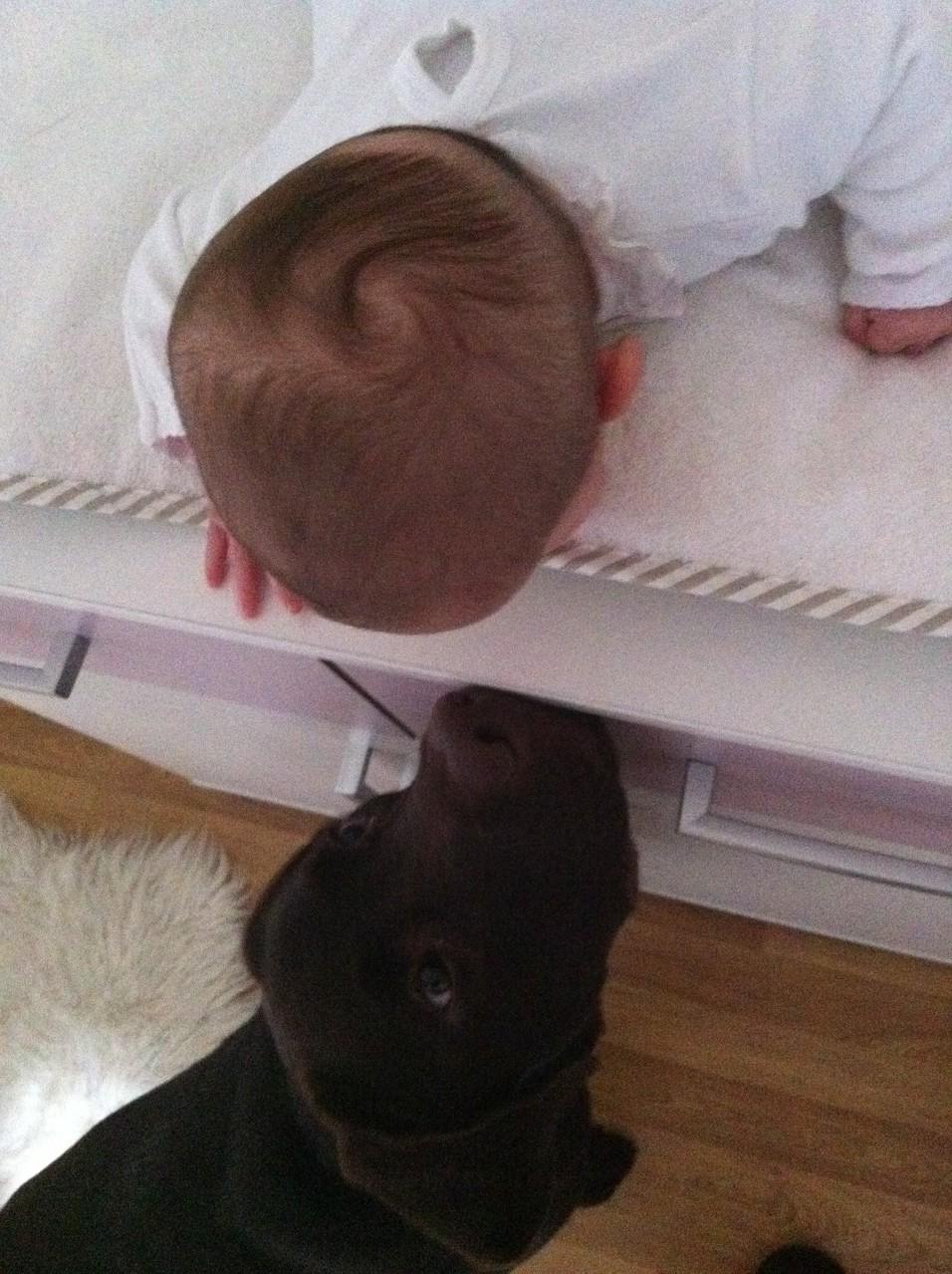 großer Bruder mit kleiner Schwester