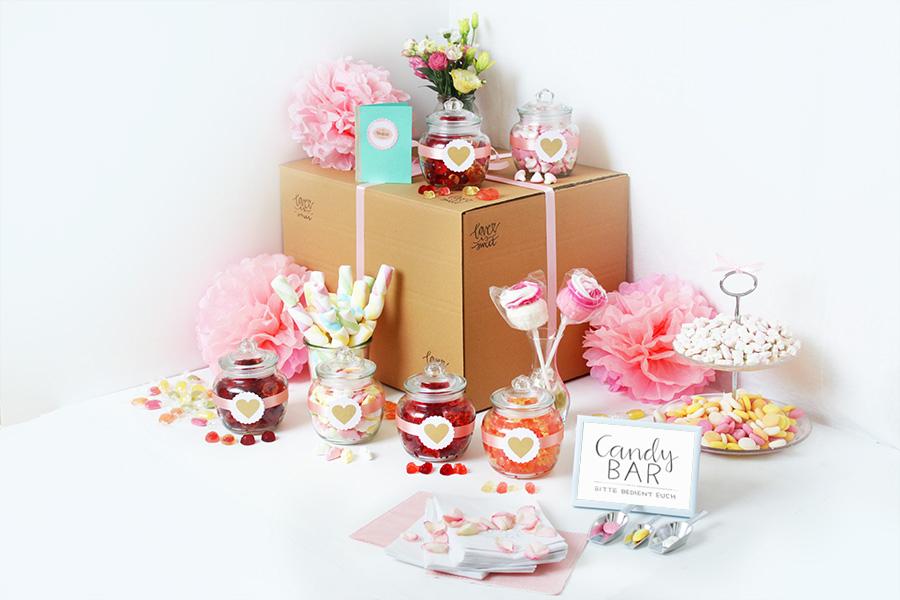 Candy Bar selbermachen Geburtstag Hochzeit Taufe