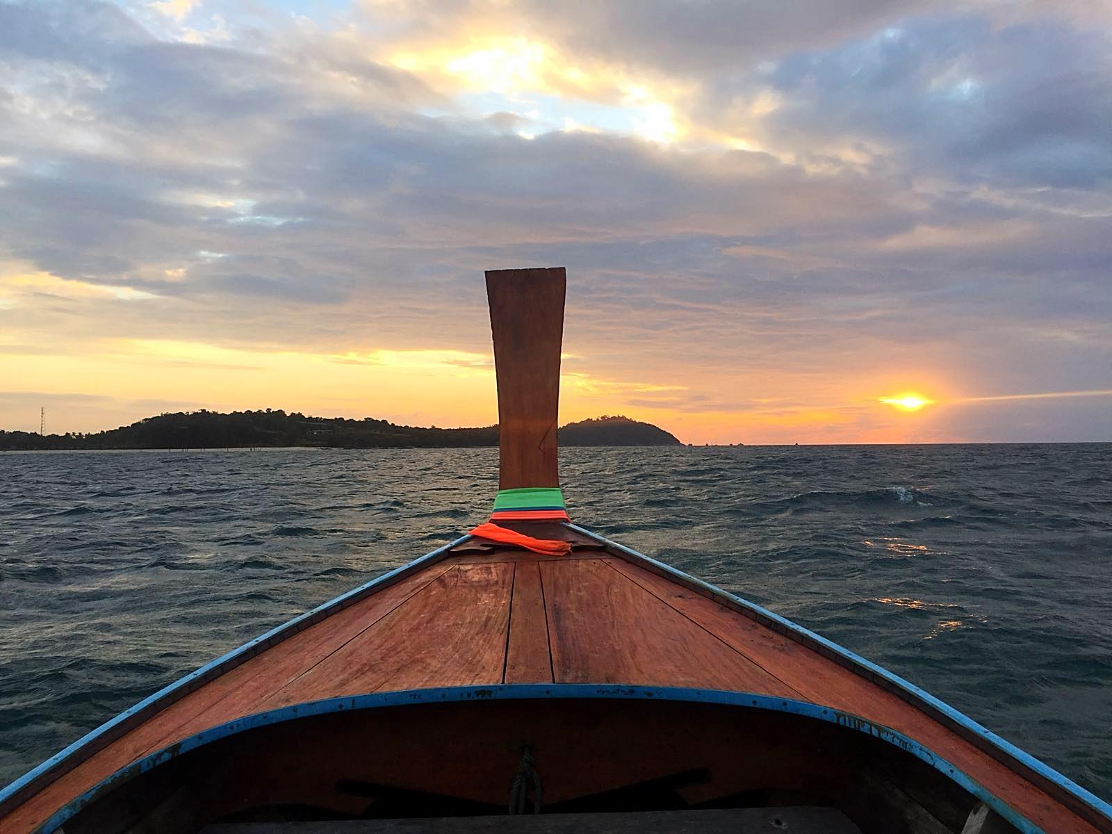 Die Bootsfahrt zurück nach Koh Lipe mit Sonnenuntergang