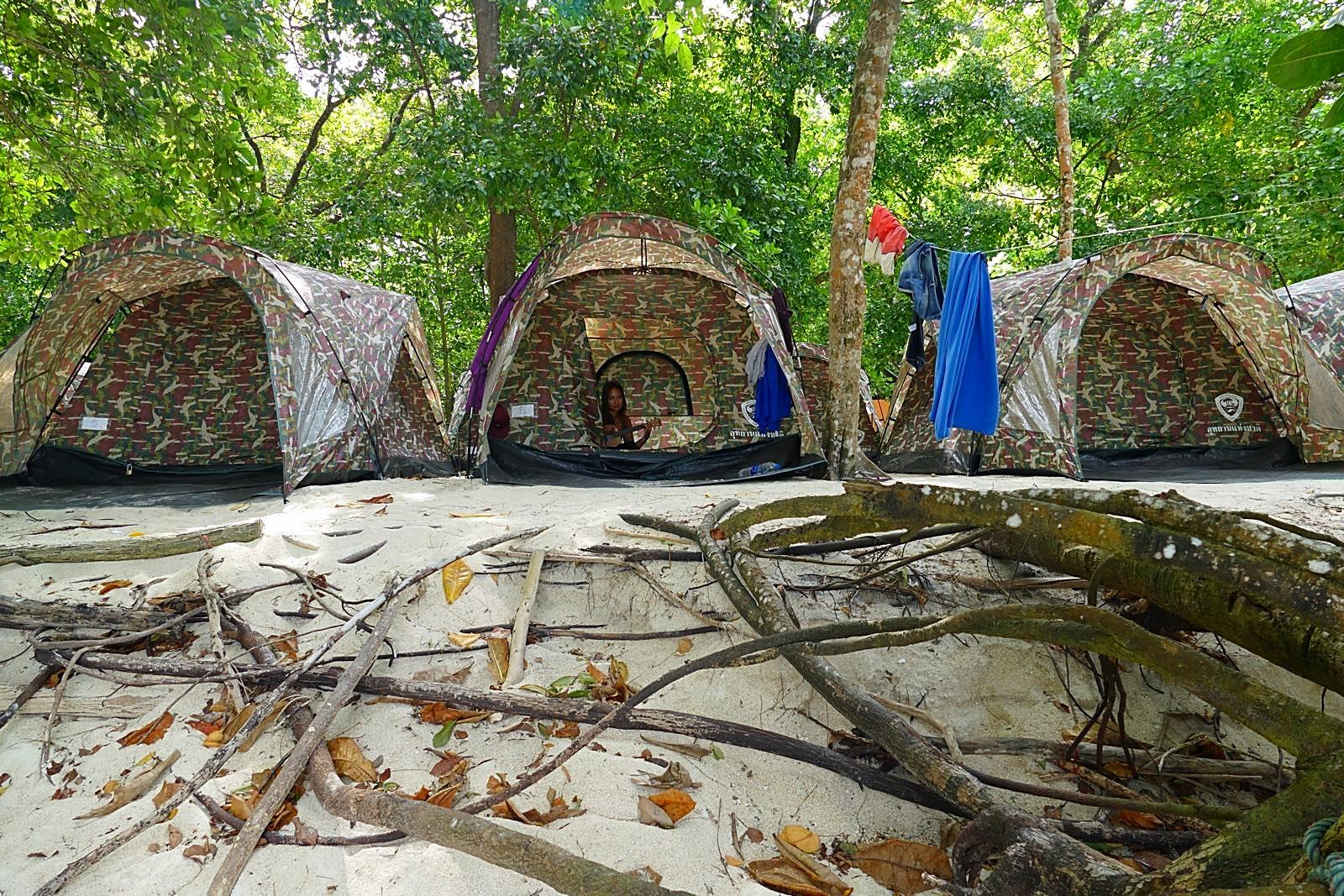 Die Zelte vom Nationalpark