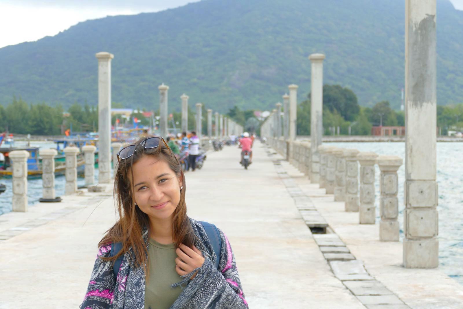 Shalitha am Pier von Con Son