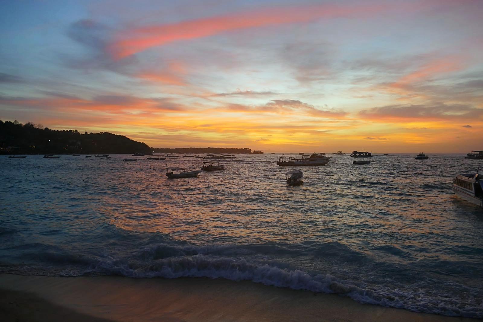 Sonnenuntergang in Lembongan