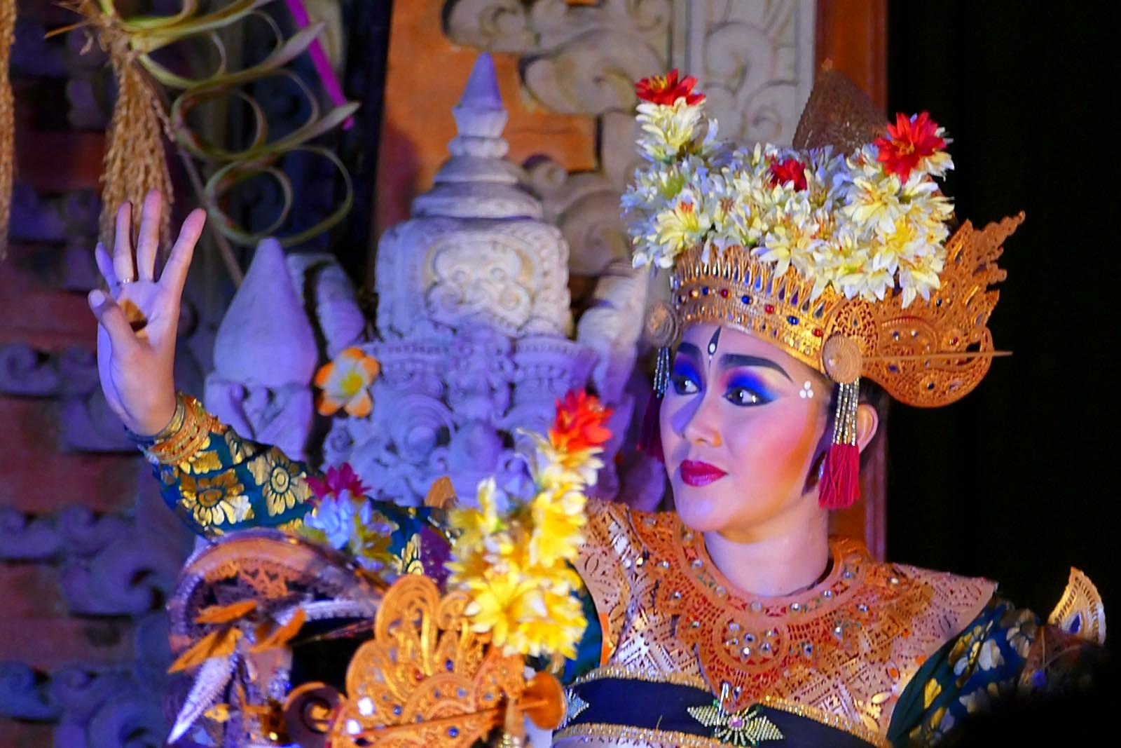 Traditioneller Tanz im Königspalast, Ubud