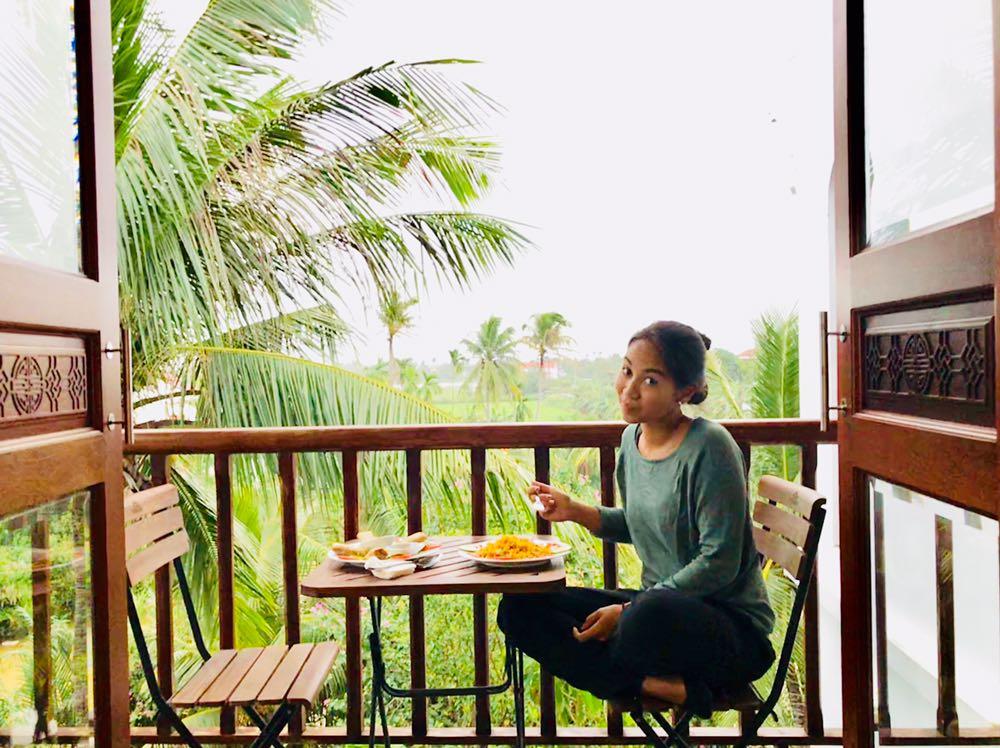 Die Aussicht vom Balkon der River Palm Villas