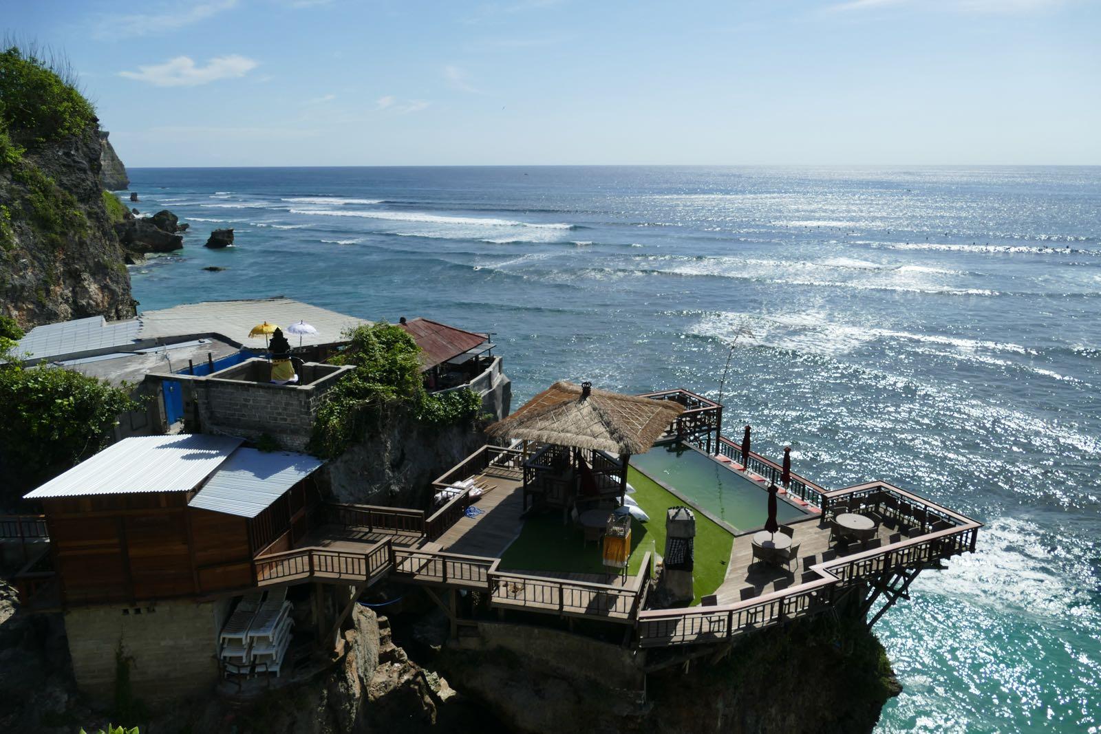 Die Aussicht von den Restaurants um Blue Point Beach