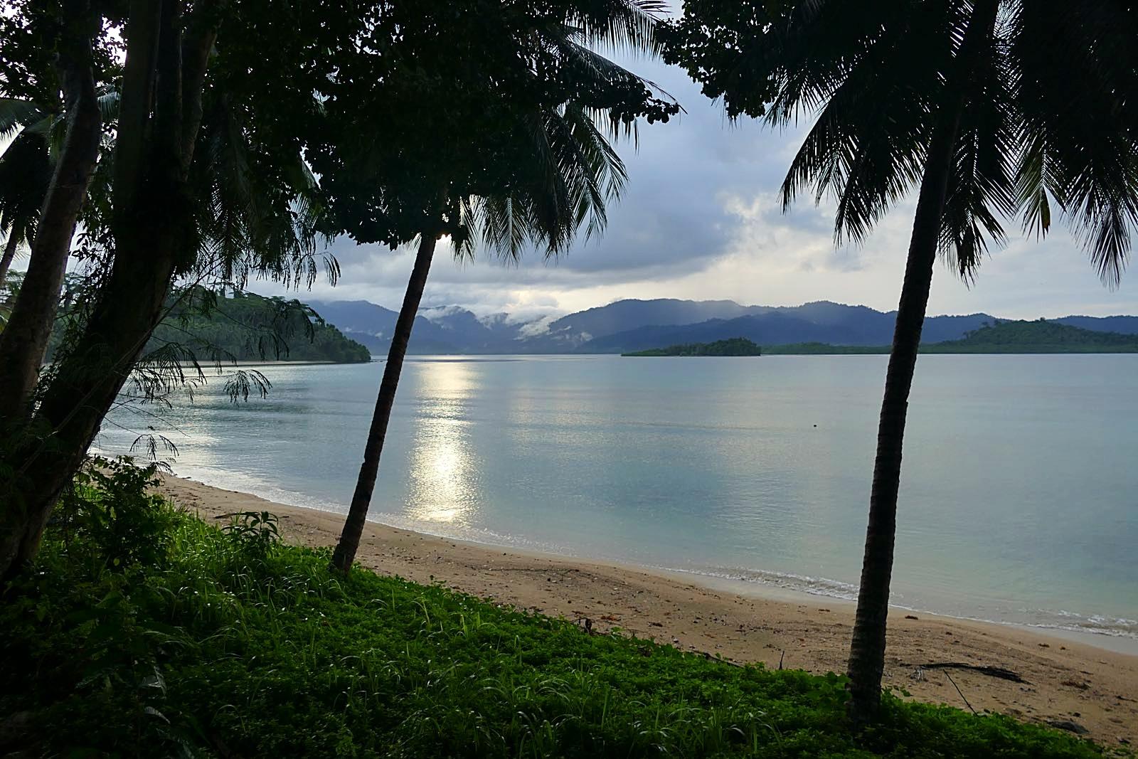 Der Coconut Beach nach den Regenfällen