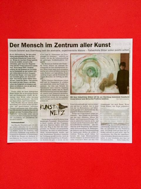 Bei Ursula Scherer steht der Mensch im Zentrum  aller Kunst