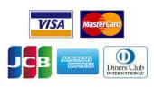 九谷焼酒井百華園お支払い方法・VISA  ・MasterCard  ・JCB  ・AMERICAN EXPRESS  ・Diners Club