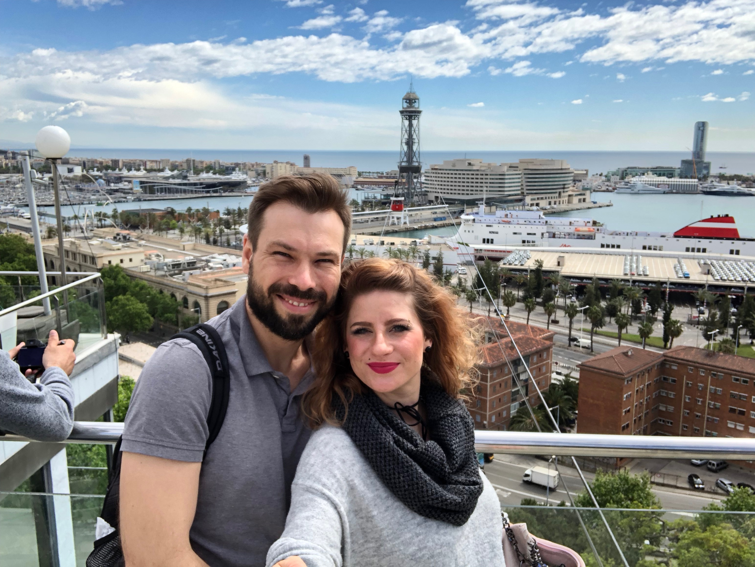 Couple, Barcelona, Harbour Barcelona, Teleferico