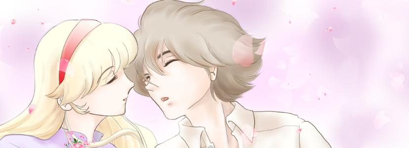 桜の季節のヘッダ めずらしくも恋人のふたり・・・