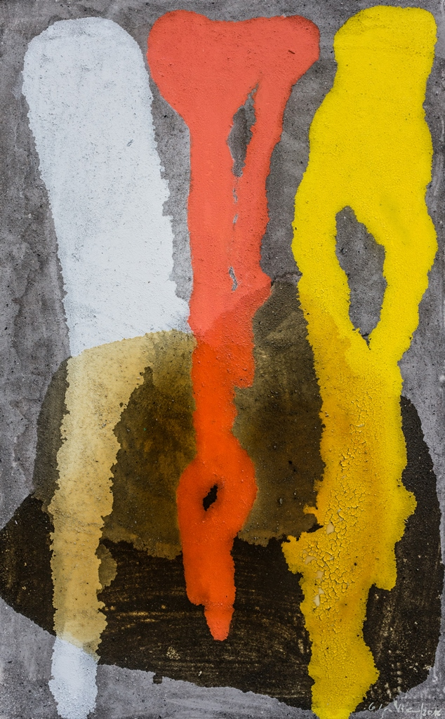 Vernis et cendres, 80 X 130 cm