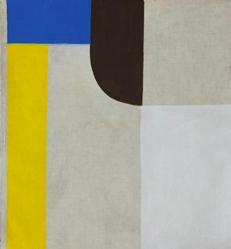 Composition avec jaune - octobre 2017- Tempera s t-42x39cm