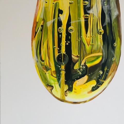 Bulles, 2020, Acryl auf Leinwand, 80x 80 cm
