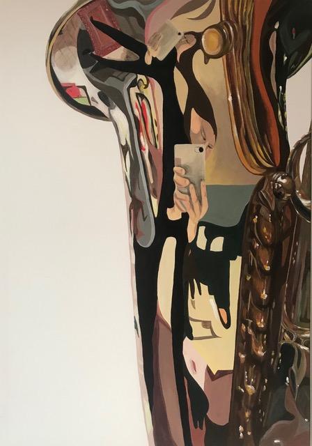 Saxophon, 2020, Acryl auf Leinwand, 70x 100 cm