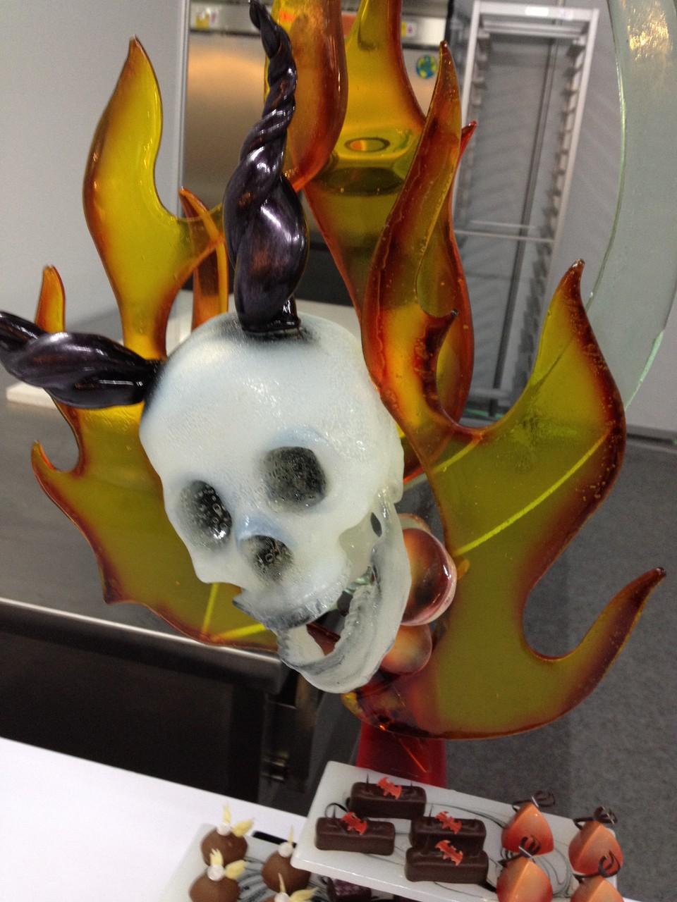 Detailansicht des Totenkopfes