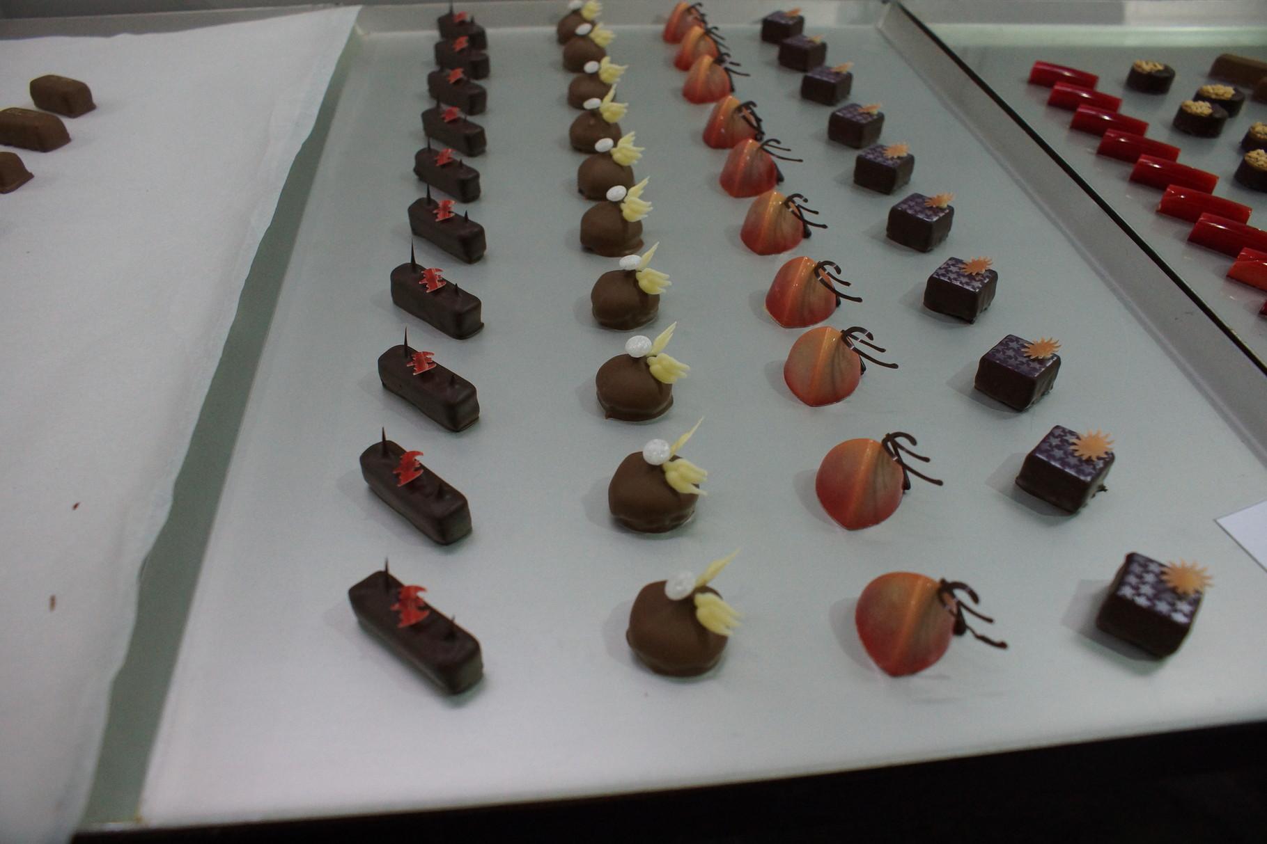Detailansicht der Pralinen