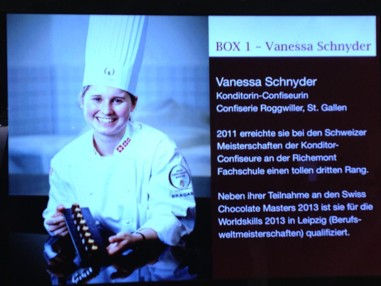 Vanessa Schnyder Teilnehmer Swiss Chocolat Masters 2013 in Bern